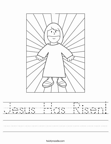 Christian Easter Worksheets for Preschoolers Lovely Jesus Has Risen Worksheet
