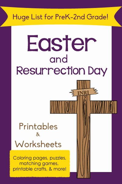 Christian Easter Worksheets for Preschoolers New Huge List Of Easter Printables for Preschool to 2nd Grade
