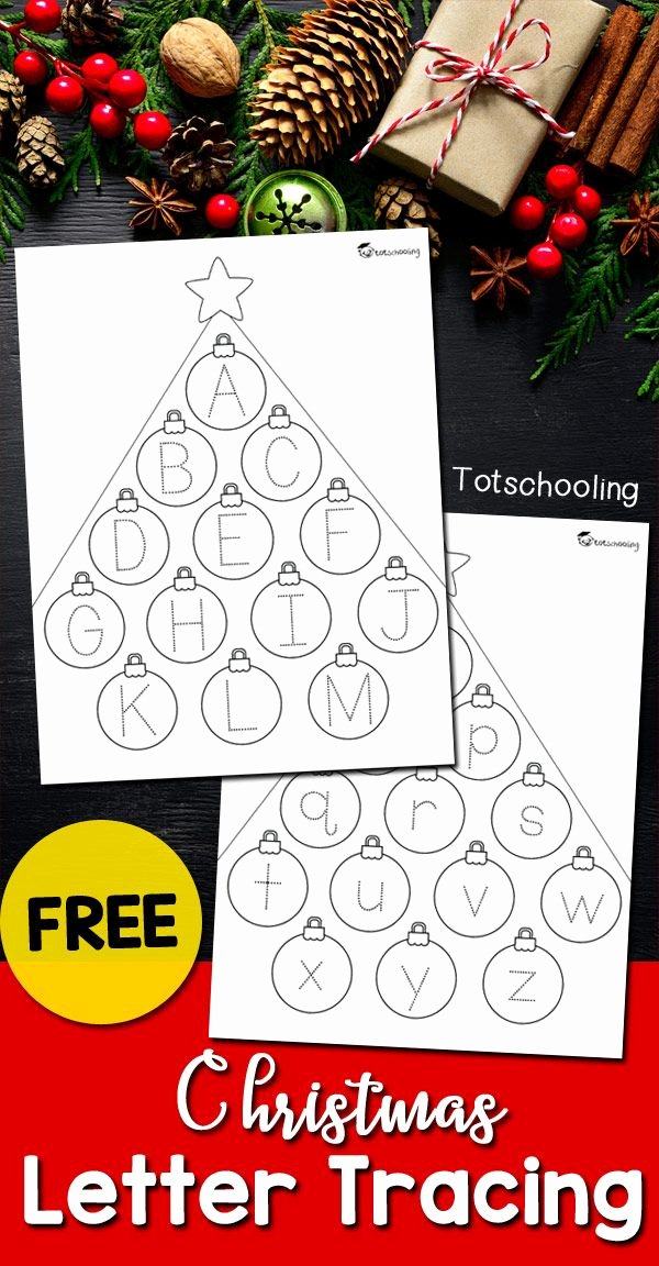 Christmas Alphabet Worksheets for Preschoolers Best Of Christmas Letter Tracing Sheets