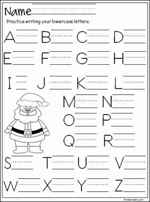 Christmas Alphabet Worksheets for Preschoolers Best Of Santa Capital Letter Writing Practice Madebyteachers