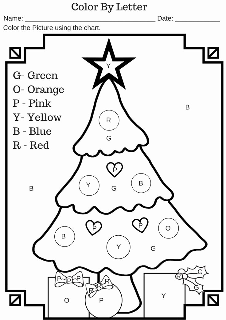 Christmas Alphabet Worksheets for Preschoolers Free Color by Letter Christmas Tree Free Printable Worksheet