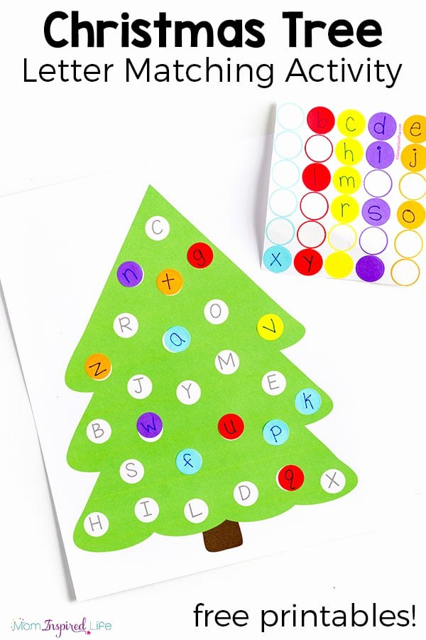 Christmas Alphabet Worksheets for Preschoolers Fresh Christmas Tree Letter Matching Activity with Free Printable
