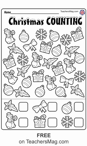 Christmas Number Worksheets for Preschoolers Best Of Christmas Worksheets for Preschool Teachersmag
