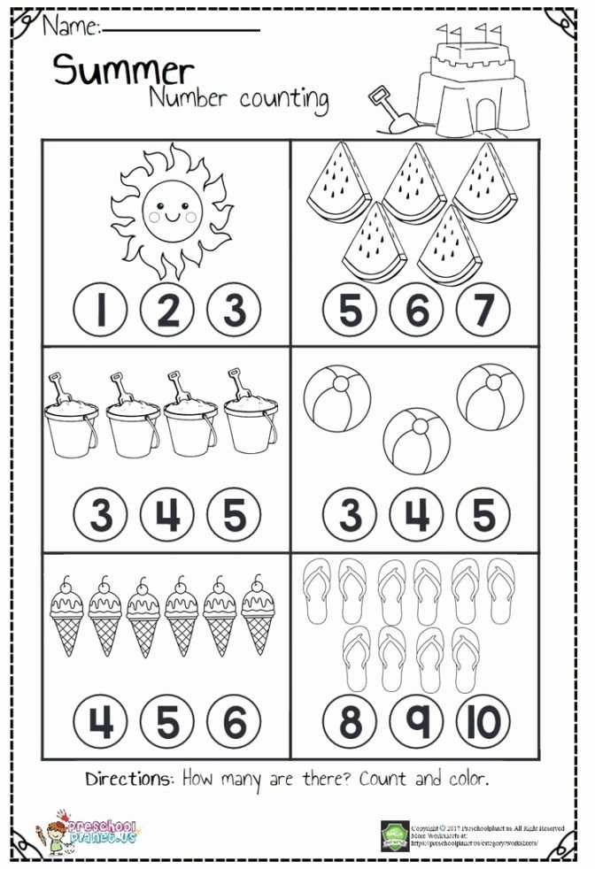 Christmas Number Worksheets for Preschoolers Free Math Worksheet 45 Awesome Number Worksheets for Preschool