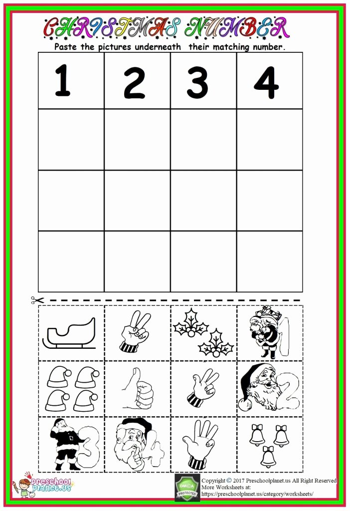 Christmas Number Worksheets for Preschoolers Fresh Christmas Number Worksheet – Preschoolplanet