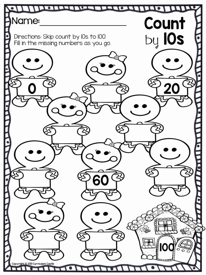 Christmas Number Worksheets for Preschoolers Inspirational Christmas Counting Worksheets Printable and Math Worksheets