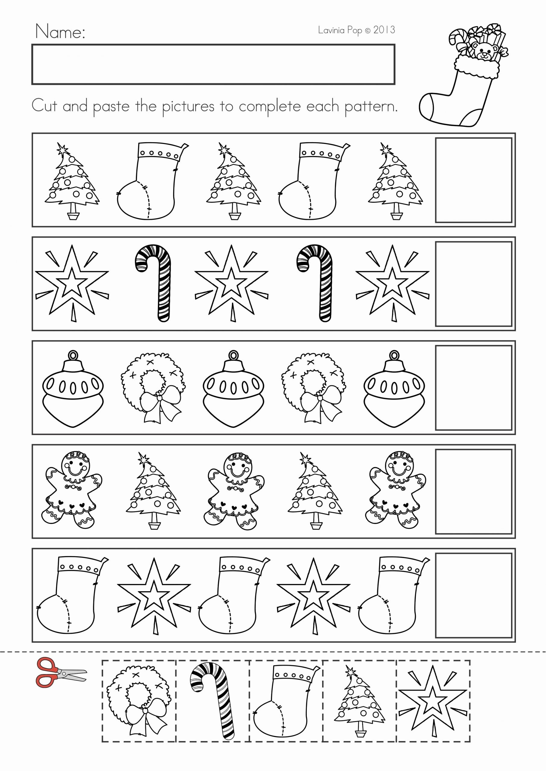 Christmas Pattern Worksheets for Preschoolers Kids Christmas Math & Literacy Worksheets & Activities No Prep