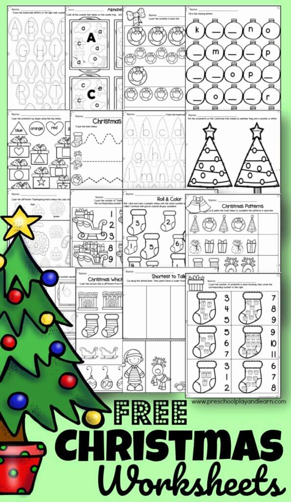 Christmas Worksheets for Preschoolers Best Of Free Christmas Worksheets for Preschoolers