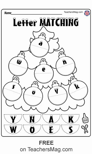 Christmas Worksheets for Preschoolers Ideas Christmas Worksheets for Preschool Teachersmag
