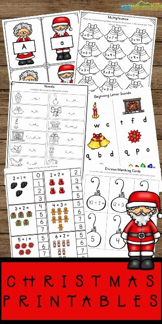 Christmas Worksheets for Preschoolers Printable Free Christmas Worksheets