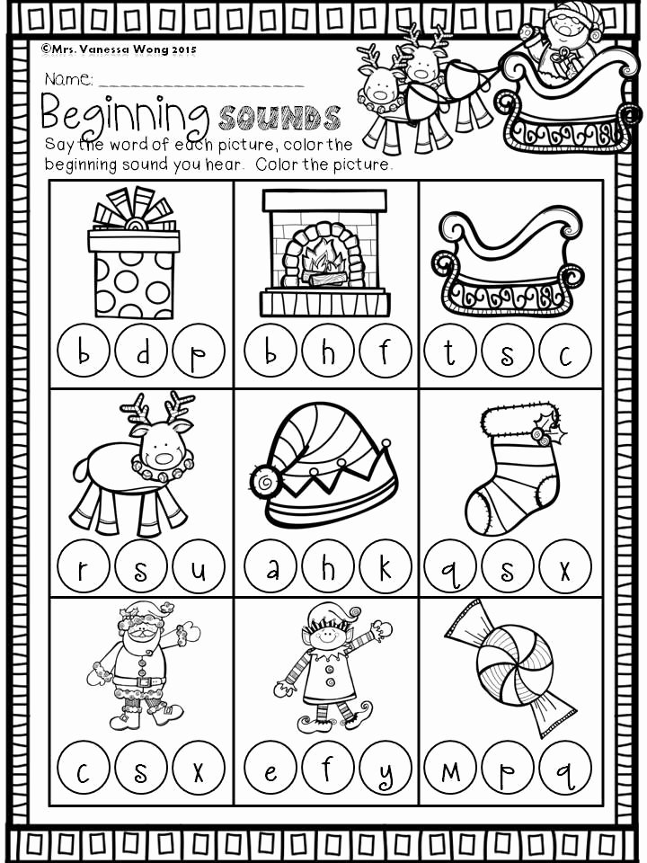 Christmas Worksheets for Preschoolers Printables Inspirational Christmas Math and Literacy Pack Kindergarten Beginning