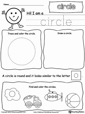 Circle Shape Worksheets for Preschoolers Free All About Circle Shapes
