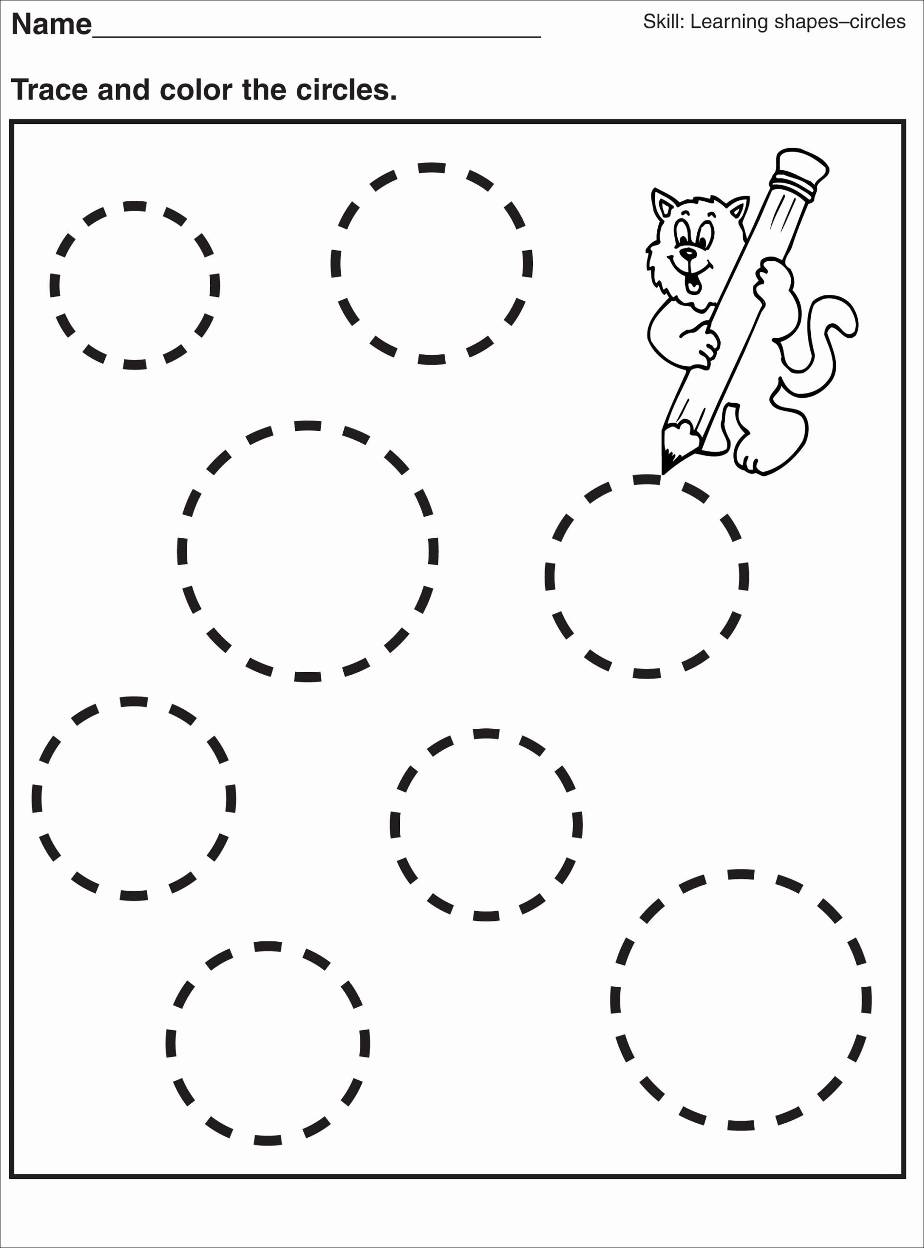 Circle Shape Worksheets for Preschoolers Free Tracing Pages for Preschool