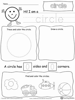 Circle Shape Worksheets for Preschoolers Ideas All About Circle Shapes