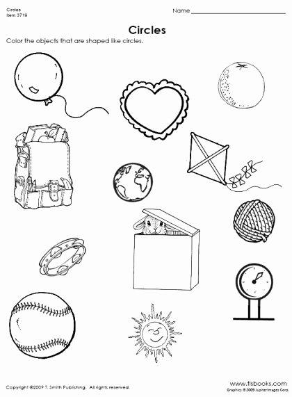 Circle Shape Worksheets for Preschoolers Kids Finding Circles Worksheet