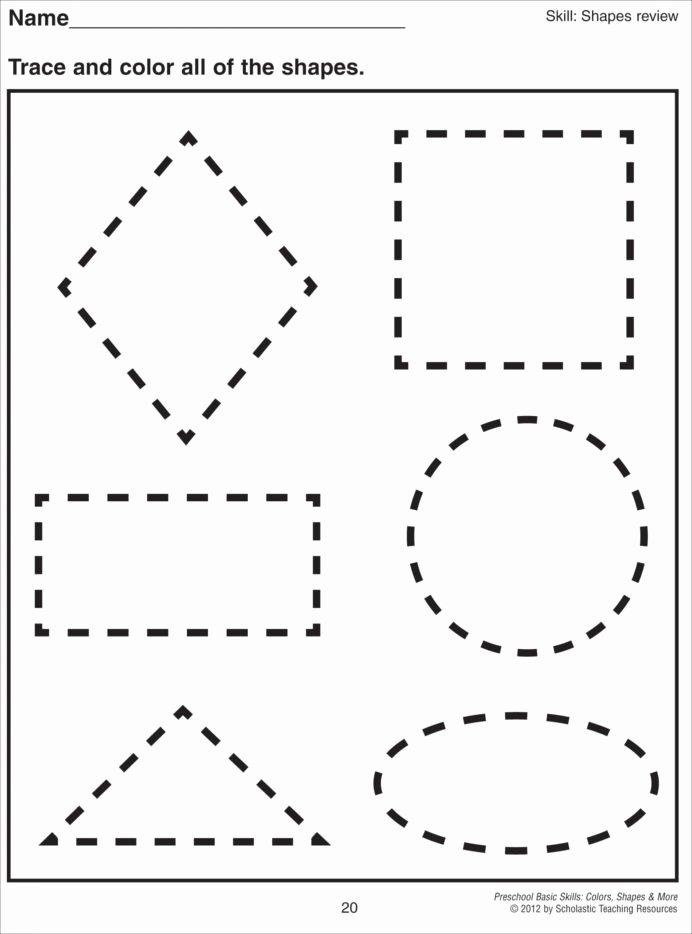 Circle Shape Worksheets for Preschoolers Lovely Cutting Shapes Worksheets Kindergarten Preschool Printable