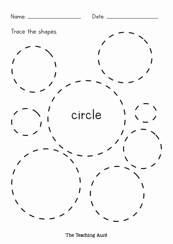 Circle Shape Worksheets for Preschoolers top Shapes Tracing Worksheets Free Printable the Teaching Aunt