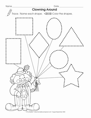 Circus Worksheets for Preschoolers Best Of the Mailbox