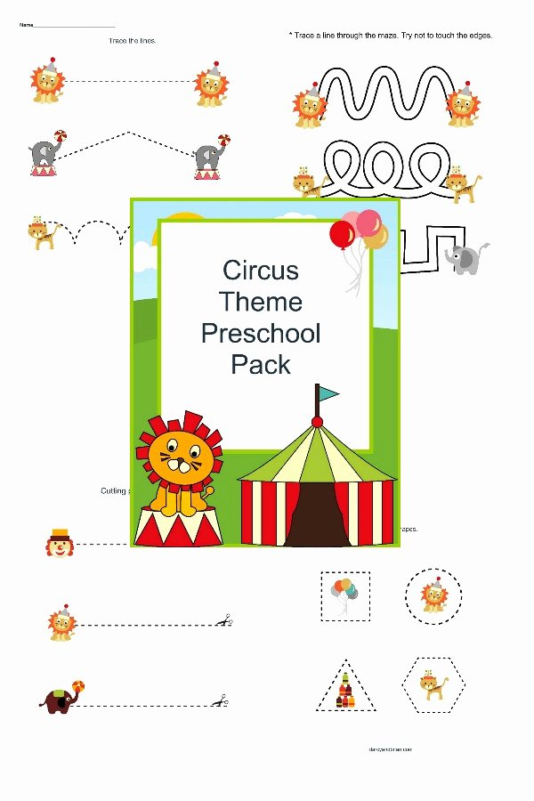 Circus Worksheets for Preschoolers New Step Right Up Fun Preschool Circus Printables for Free