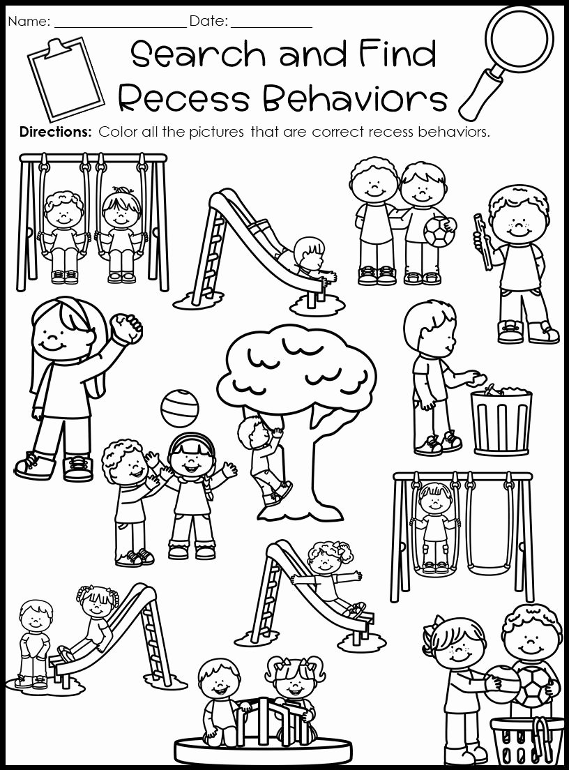 Classroom Rules Worksheets for Preschoolers Fresh Behavior Activities for Classroom Management and Procedures