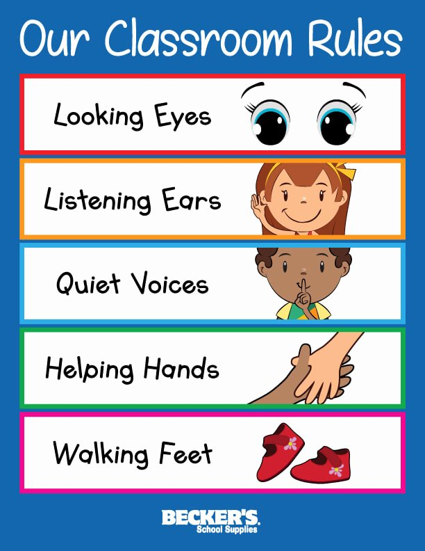 Classroom Rules Worksheets for Preschoolers New Preschool Classroom Rules – Becker S School Supplies