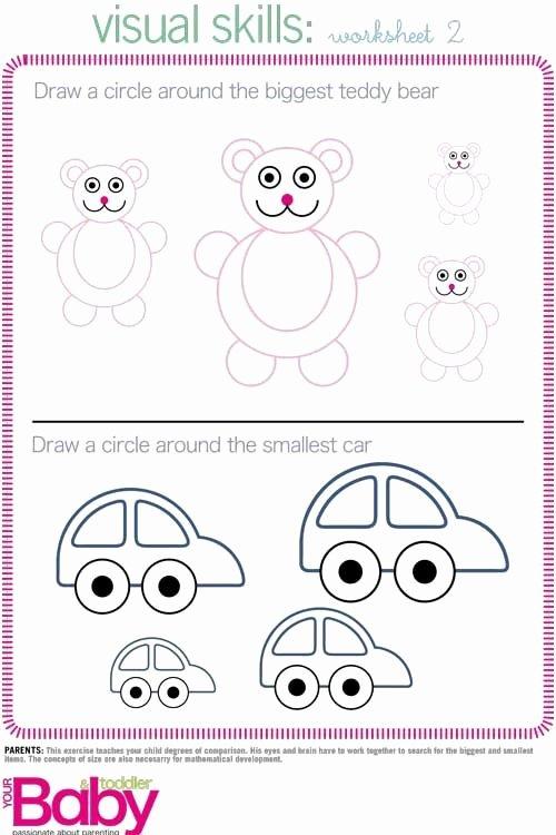 Cognitive Development Worksheets for Preschoolers top Print It School Readiness Work Sheets