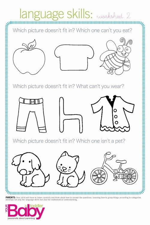 Cognitive Skills Worksheets for Preschoolers Best Of Print It School Readiness Work Sheets