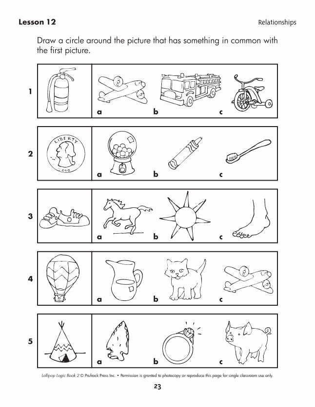Cognitive Skills Worksheets for Preschoolers Lovely Lollipop Logic Critical Thinking Activities
