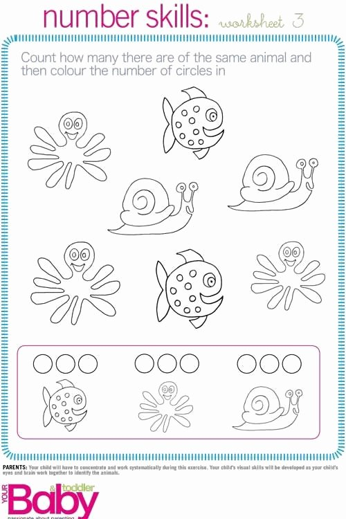 Cognitive Skills Worksheets for Preschoolers Printable Print It School Readiness Work Sheets