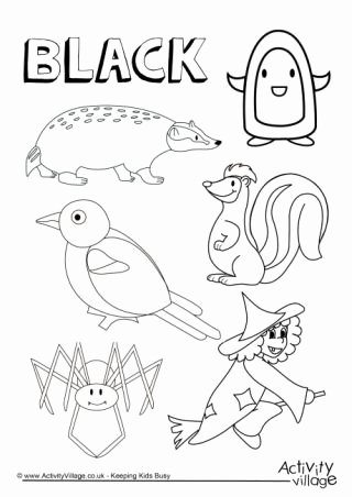 Color Black Worksheets for Preschoolers Inspirational Colour Collection Colouring Pages