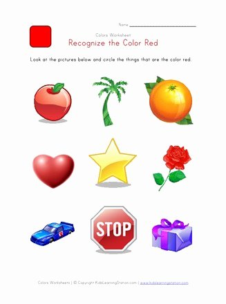 Color Red Worksheets for Preschoolers Free Recognize the Color Red Colors Worksheet for Kids
