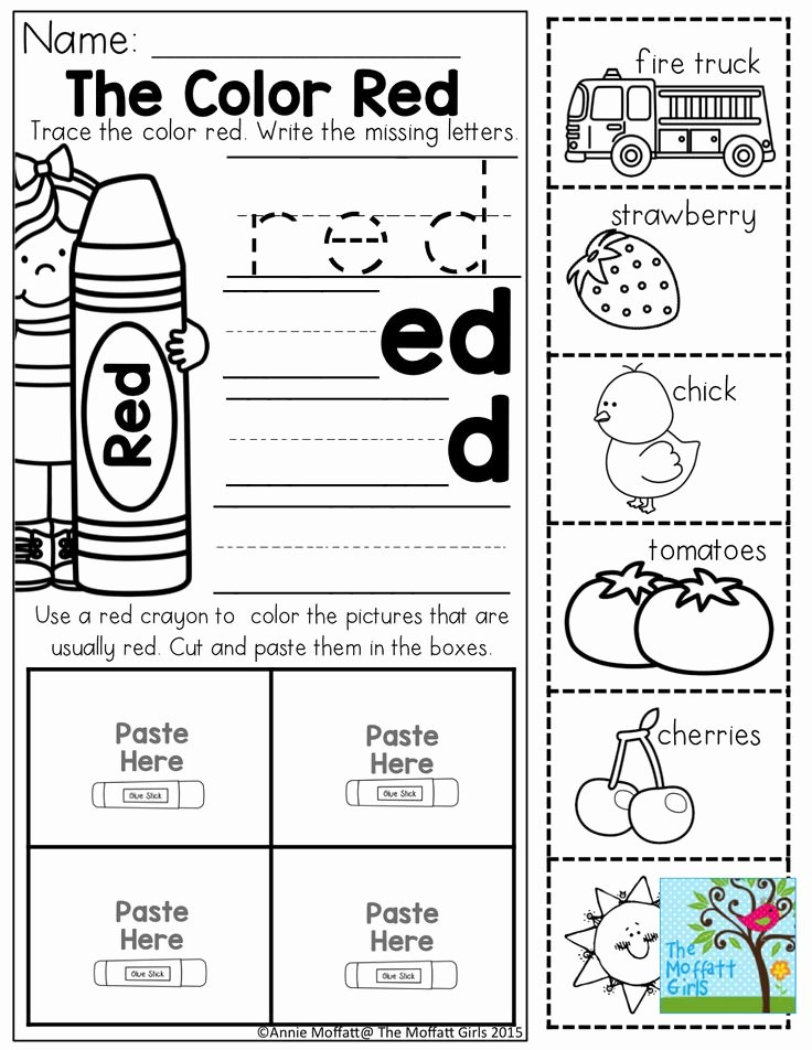 Color Red Worksheets for Preschoolers Kids Coloring Pages Yellow Color Activities forn Worksheets Fun