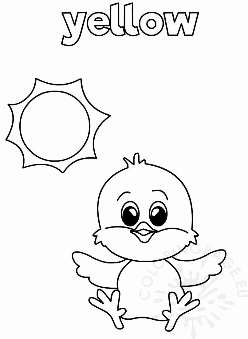 Color Yellow Worksheets for Preschoolers Kids Coloring Books Color Worksheets for toddlers Best