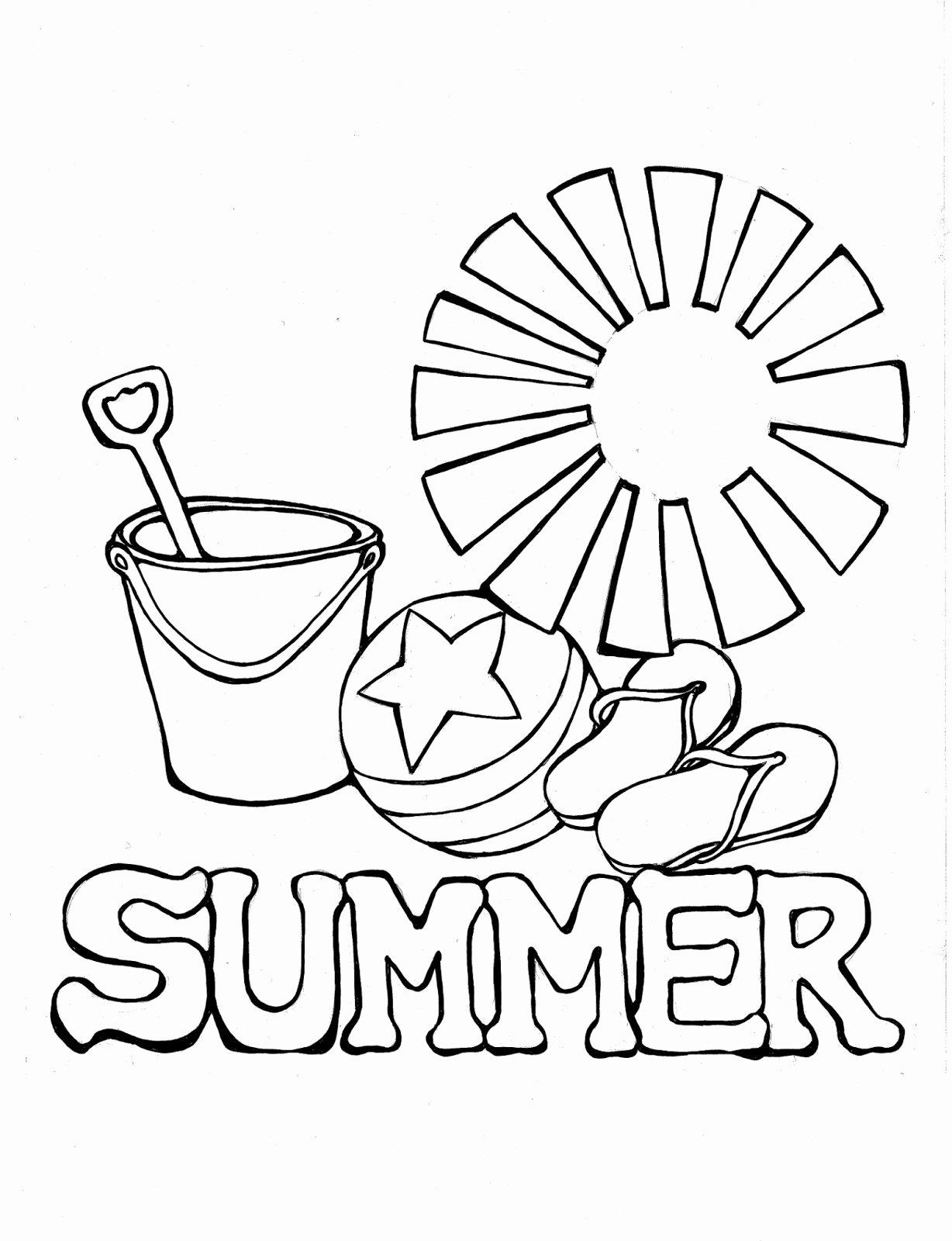 Coloring Worksheets for Preschoolers Best Of Coloring Book Worksheet Preschool Pages Summer Worksheets