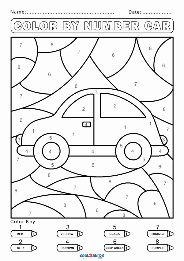 Coloring Worksheets for Preschoolers Numbers Free Free Color by Number Worksheets