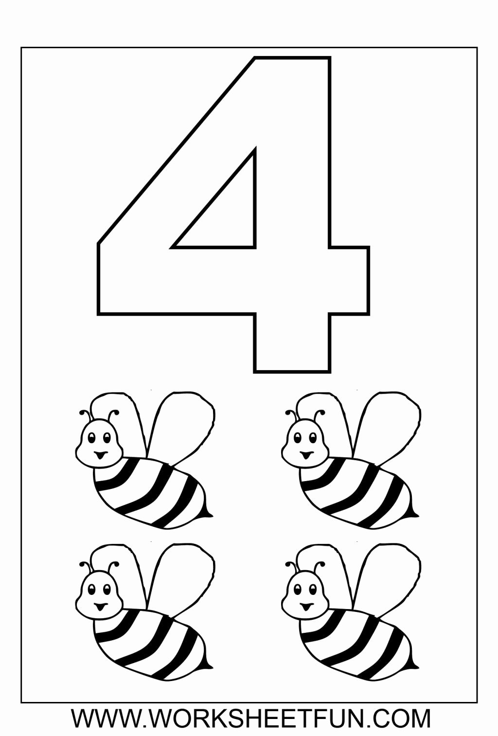 Coloring Worksheets for Preschoolers Numbers Free Number 3 Coloring Sheet