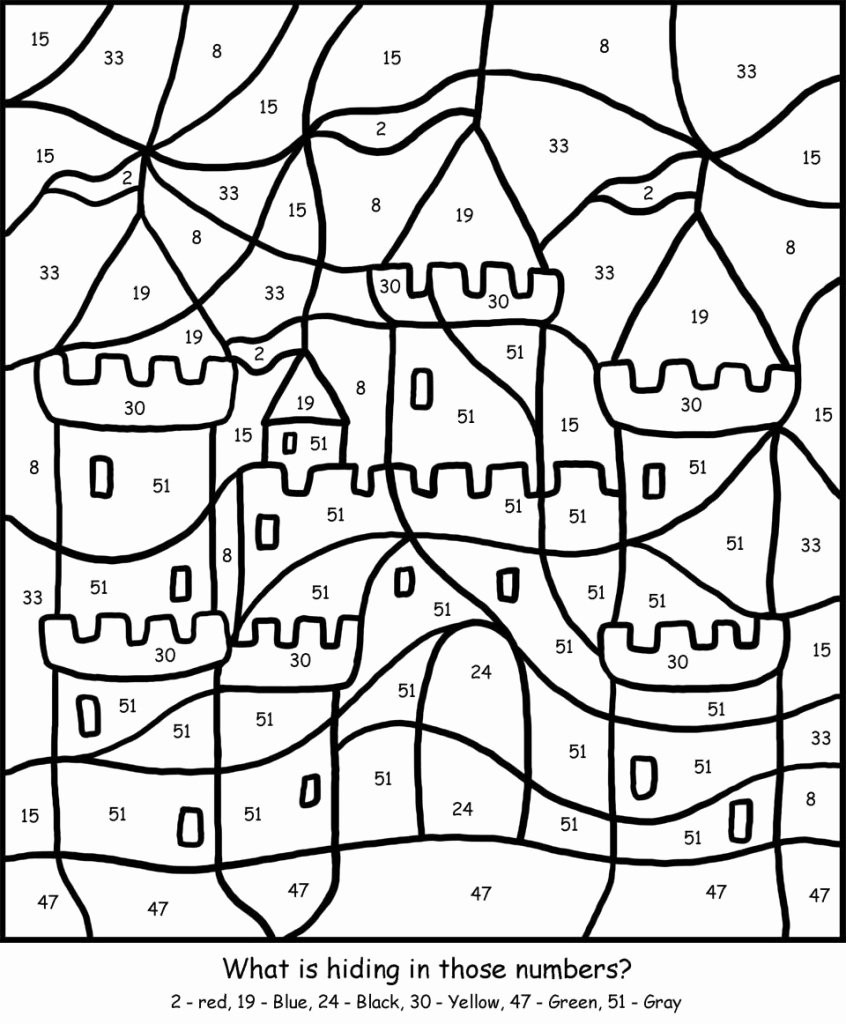 Coloring Worksheets for Preschoolers Numbers Inspirational Free Printable Color by Number Coloring Pages Best