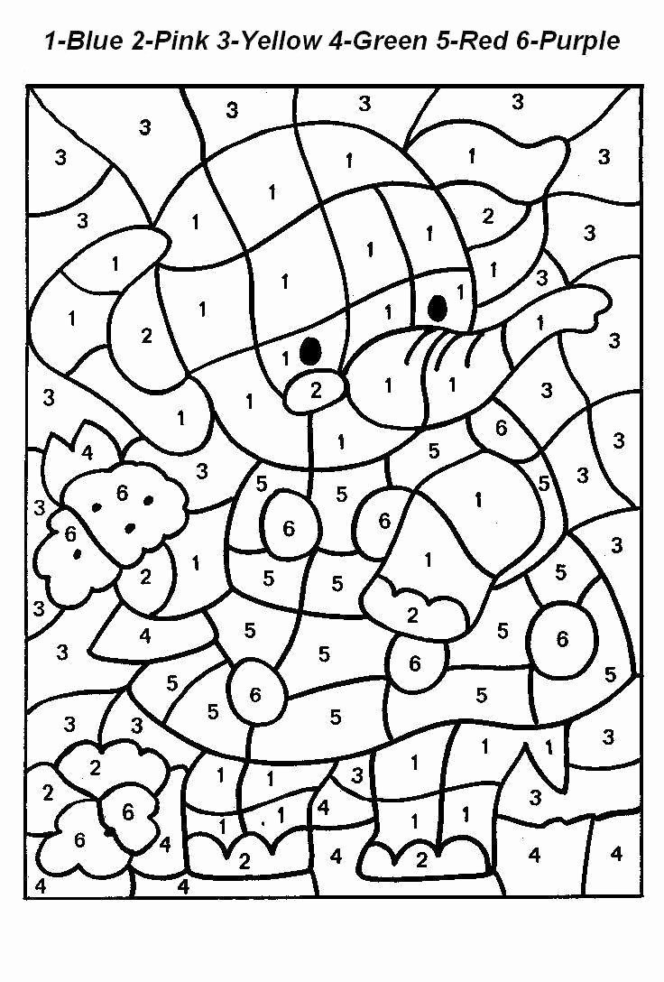 Coloring Worksheets for Preschoolers Numbers New Everyone Loves Color by Numbers Kids and Adults Alike It S
