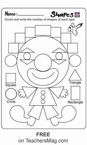 Colors and Shapes Worksheets for Preschoolers Best Of Shapes and Colors Worksheets for Kindergarten Students