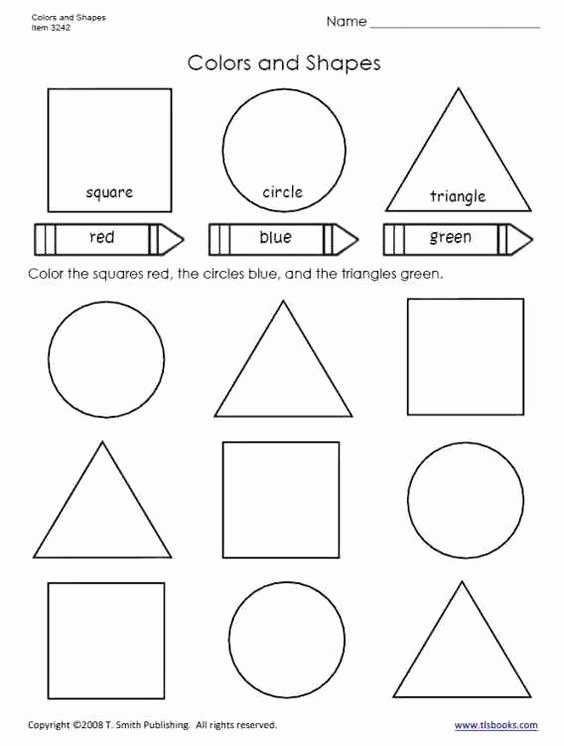 Colors and Shapes Worksheets for Preschoolers Inspirational Colors and Shapes Worksheet From Tlsbooks