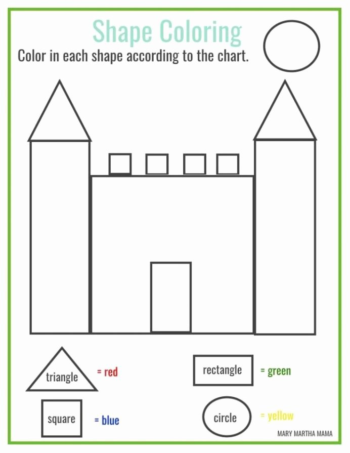 Colors and Shapes Worksheets for Preschoolers New 7th Math Guide Shapes and Colors Worksheets for toddlers
