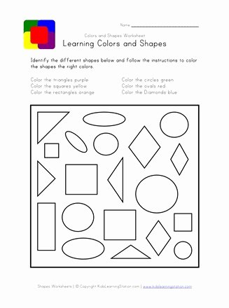 Colors and Shapes Worksheets for Preschoolers top Shapes and Colors Worksheet