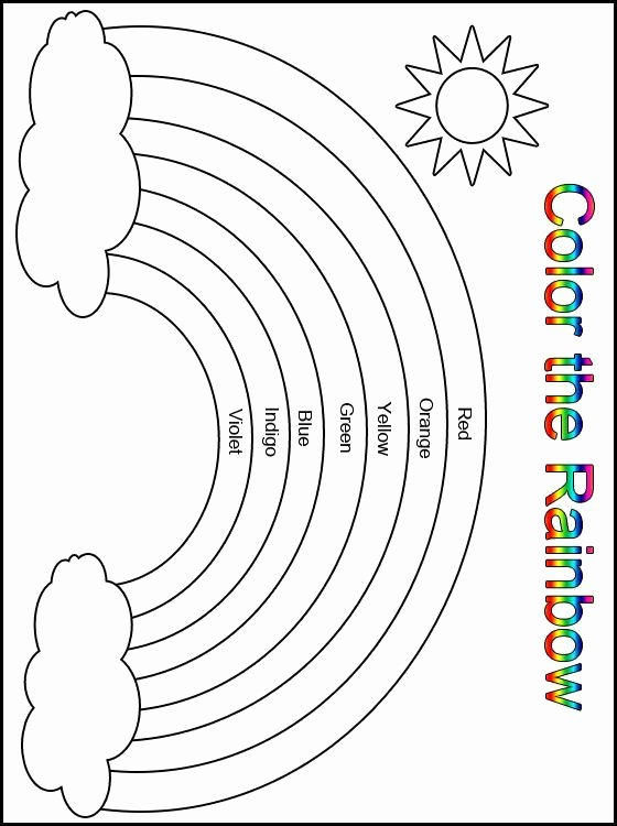 Colors Worksheets for Preschoolers Free Printables Free Customize Your Free Printable Color the Rainbow Kindergarten