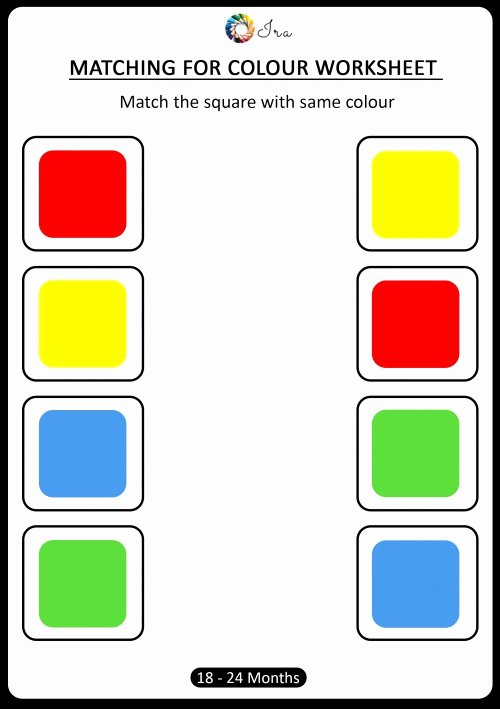 Colour Matching Worksheets for Preschoolers Fresh Coloring Pages Free Downloadable Matching Colors