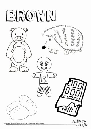 Colour Worksheets for Preschoolers Kids Colour Collection Colouring Pages