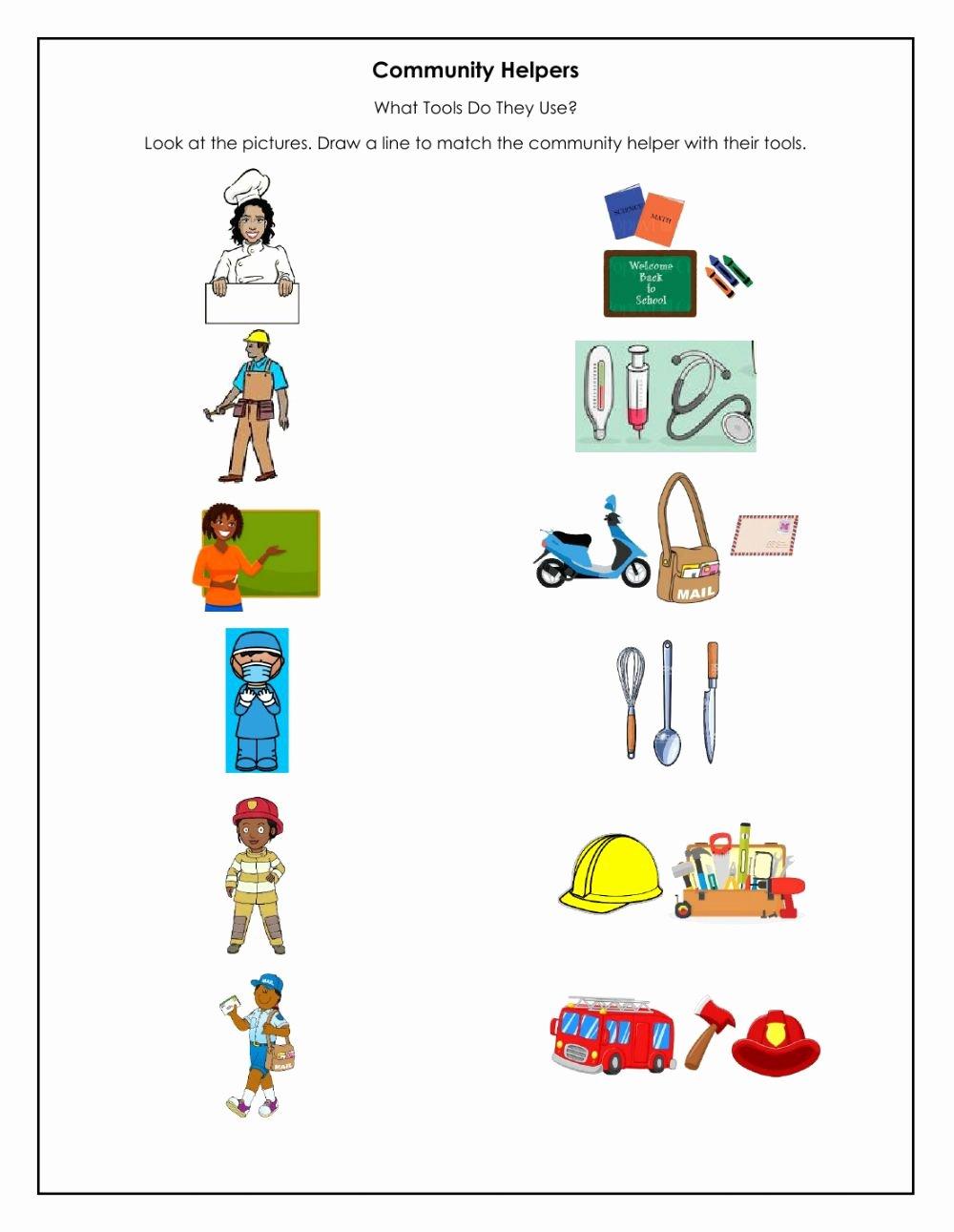 Community Helpers Worksheets for Preschoolers Ideas Munity Helpers Interactive Worksheet
