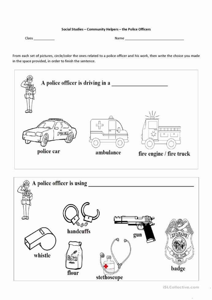 Community Helpers Worksheets for Preschoolers Lovely English Esl Munity Helpers Worksheets Most Downloaded the