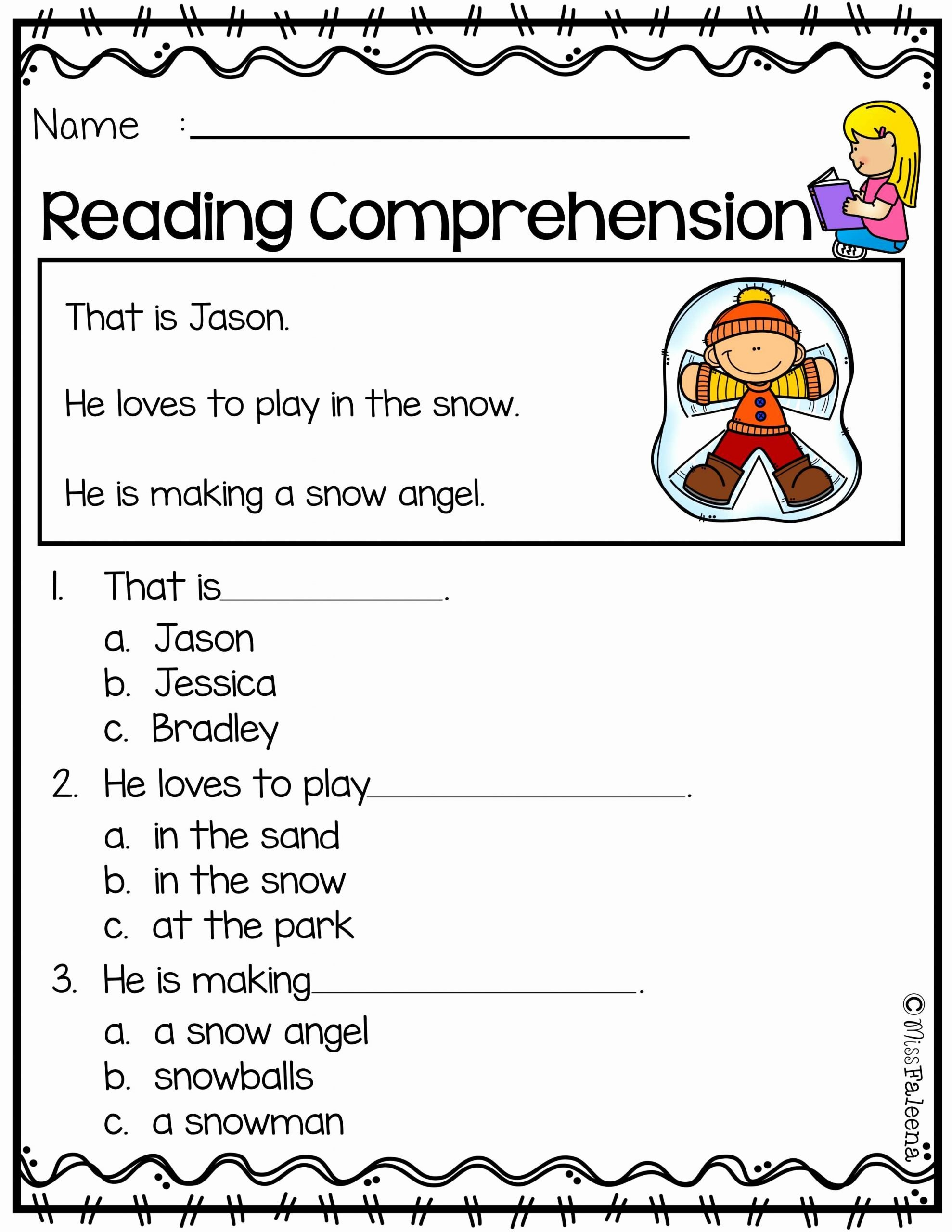 Comprehension Worksheets for Preschoolers Inspirational Free Reading Prehension