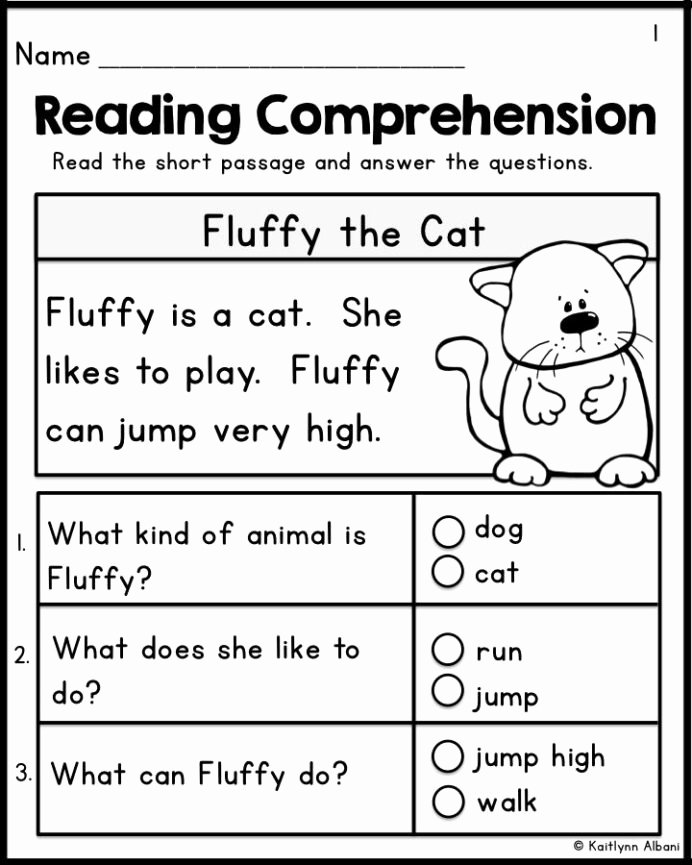 Comprehension Worksheets for Preschoolers Inspirational Kindergarten Reading Prehension Passages Set Freebie