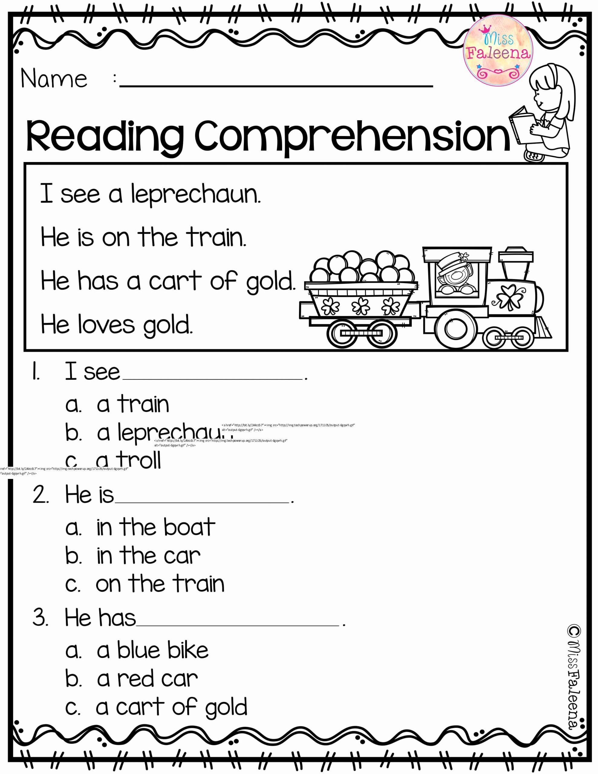 Comprehension Worksheets for Preschoolers New March Reading Prehension is Suitable for Kindergarten